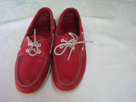 Vintage Vintage Austin Reed Red Leather Boat Shoes Grailed