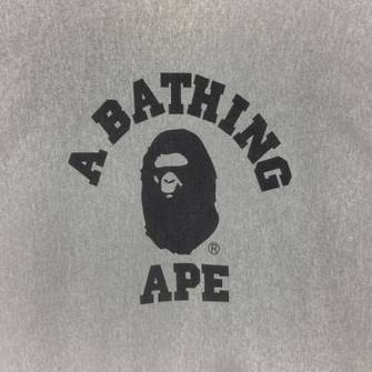 Bape Champion Black Ape Head Logo Hoodie Size Medium A Bathing Ape Made In USA