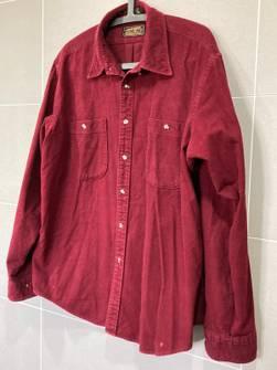 Vintage Men/'s Chamois Shirt Eddie Bauer 80/'s Retro Extra Large XL Plum