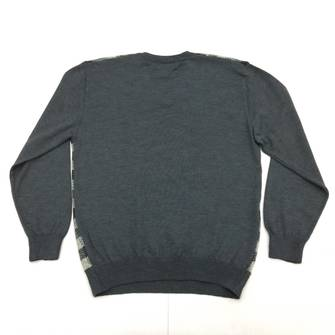 Austin Reed Austin Reed Checkered V Neck Wool Jumper Grailed