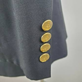 Austin Reed Austin Reed 42 R 2 Button Black Wool Gold Button Grailed