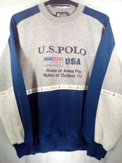 25/% OFF Vintage POLO CLUB Sweatshirt Big Logo Spell Out Size Large