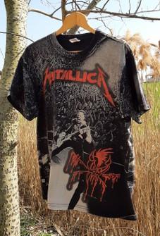 G/én/érique Metallica One Femme T-Shirt Manches Courtes Noir Regular//Coupe Standard