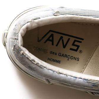 Vans Vans x Homme Striped Slip-ons