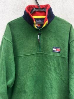 Vintage 90s Tommy Hilfiger Fleece Jacket Women/'s Large Free Shipping Vtg 1990s Sweater Sweatshirt Brown Streetwear