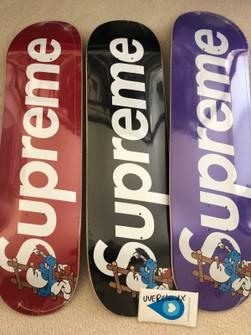 SUPREME SMURFS SKATEBOARD DECK PURPLE FW20