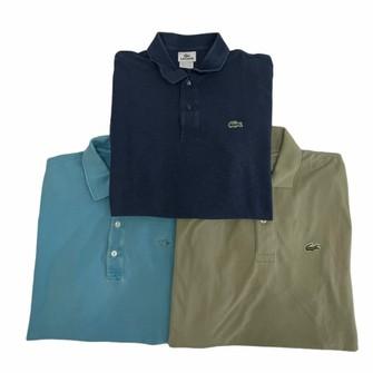 Lacoste Lot of 3 Lacoste Polo Shirt Men's Size 6 XL 802