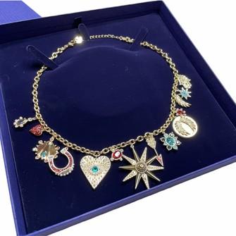 Swarovski Swarovski Gold-Tone Lucky Goddess Charms Necklace #5451263