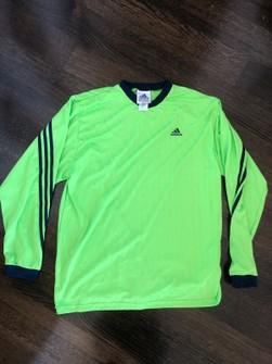 Adidas Vintage Adidas Neon Green Long Sleeve Jersey