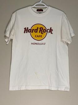 Rare!! Vintage 90s Tee Hard Rock Cafe Honolulu Big Logo Nice Design Size M