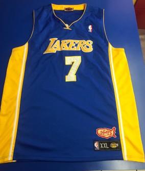 NBA Vintage Lamar Odom Hoops Lakers Jersey