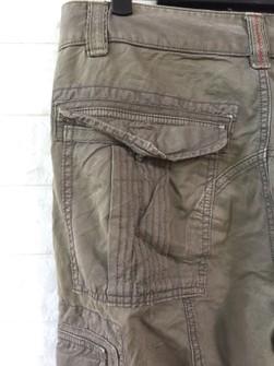 Vintage Napapijri Outdoors Cargo Pant Olive Green Colour Waist 33