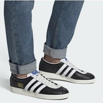 Adidas Adidas Gazelle Vintage Black White Leather Sneaker 13 M