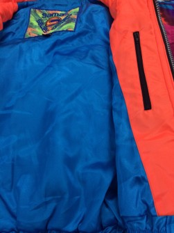 SAMAS Ski Jacket Large Vintage 90s Samas Ski Snow Wear Warmer Skiing Bomber Blue Hoodie Winter Jacket Size L