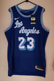 Nike Los Angeles Lakers Lebron James City Jersey Blue Classic