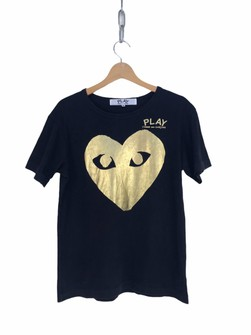 Vintage Play Comme Des Garcons Gold Big Logo Shirt