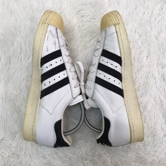 Adidas Superstar 80s White Cuir Leather