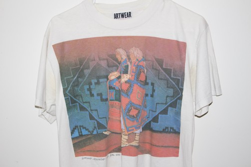 vintage indie heritage shirt 90s Native Americal costume Size M