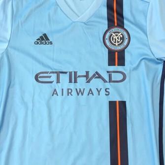 Adidas NYC Football Club mens soccer jersey Etihad Airways