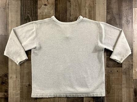 90s Bergati wrinkled texture knit olive black pullover sweater size L vtg vintage plain blank