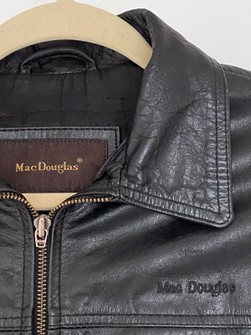 Incredible State Size 50 80/'s Mac Douglas Scarce Vintage Dark Grey Swedish Military Tanker Leather Jacket Reproduction Made in France