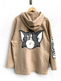 Rare!!Vintage Tom/&Jerry Sweatshirt Cartoon Animation biglogo spellout sweatshirt pullover jumper
