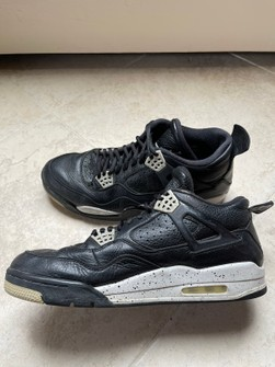 Nike Nike Air Jordan 4 Retro Oreo (2015) Size 12 VERY USED NO BOX