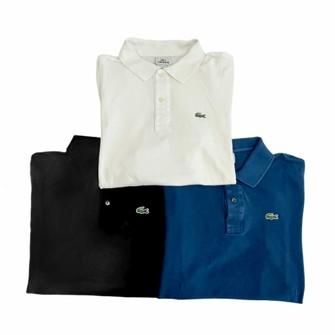 Lacoste Lot of 3 Lacoste Polo Shirt Men's Size 6 XL 801