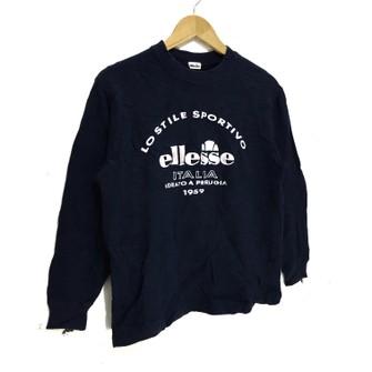 Vintage Ellesse crewneck sweatshirt jumper casual tennis jacket M size blue colour