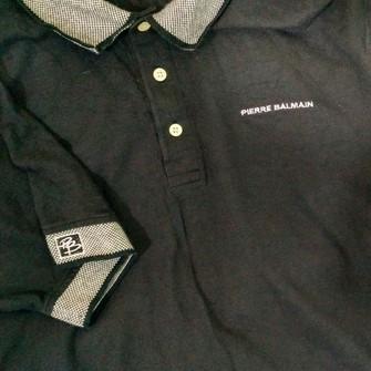 BALMAIN Pique Poche Polo Shirt-L-Made in Italy-RRP £ 195-SUPERBE-Bnwt
