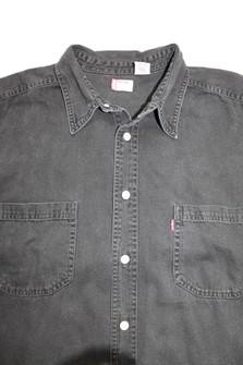 denim shirtvintage denim shirthand treated denimbleach treated denimfab208nycfab208blue denim shirt SALE PRICE!!
