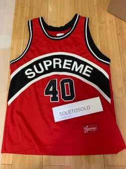 Supreme Supreme Basketball Jersey #40 - Sleeveless - M - Red/Black
