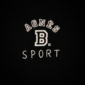 PARIS Sport Cardigan Jacket Made In Japan Zip Sweater Sweatshirt Minimalist Logo Black Jumper Vintage AGNES B