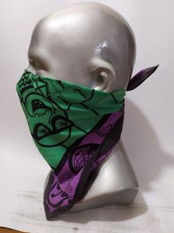 VINTAGE MICHIKO LONDON Handkerchief Authentic Hair Silk Bandana Luxury Pocket Square Accessories Face Mask Neckwear Summer Headband
