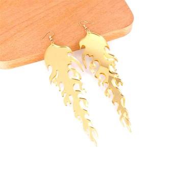 Neon Compass Dangle Earrings Yellow