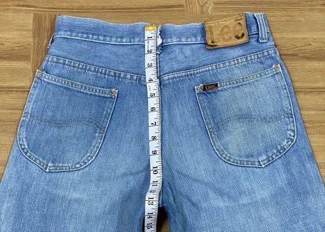 Vintage USA Made 1970s Lee High Rise Jeans Size 25x30 Talon 42 Zip