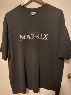 Vintage NEW The Matrix T-Shirt 1999 Printed on Hanes Sz XL Black RARE