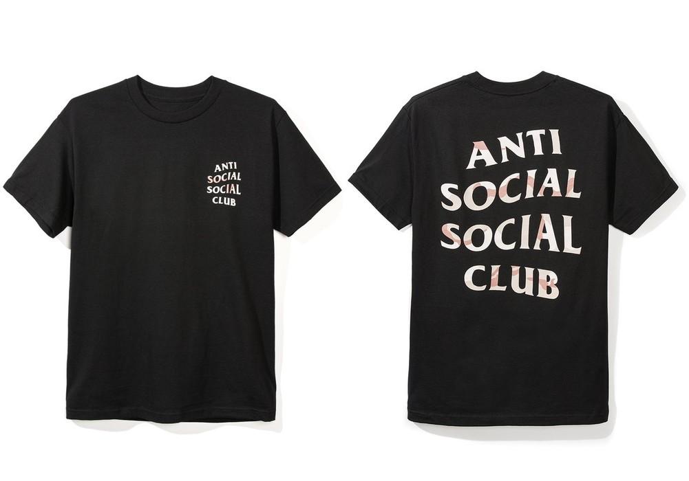 DS Anti Social Social Club ASSC Desert Camo logo Storm Black Tee Shirt
