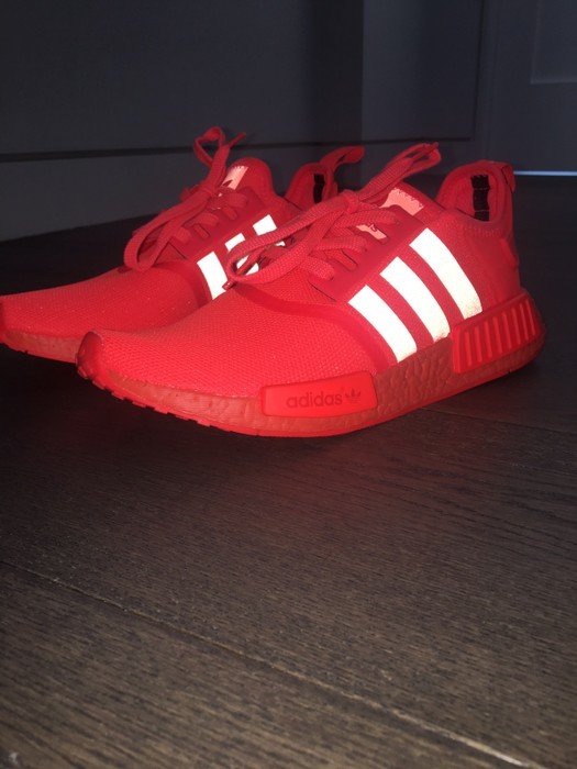 Adidas Nmd R1 Solar Red Grailed