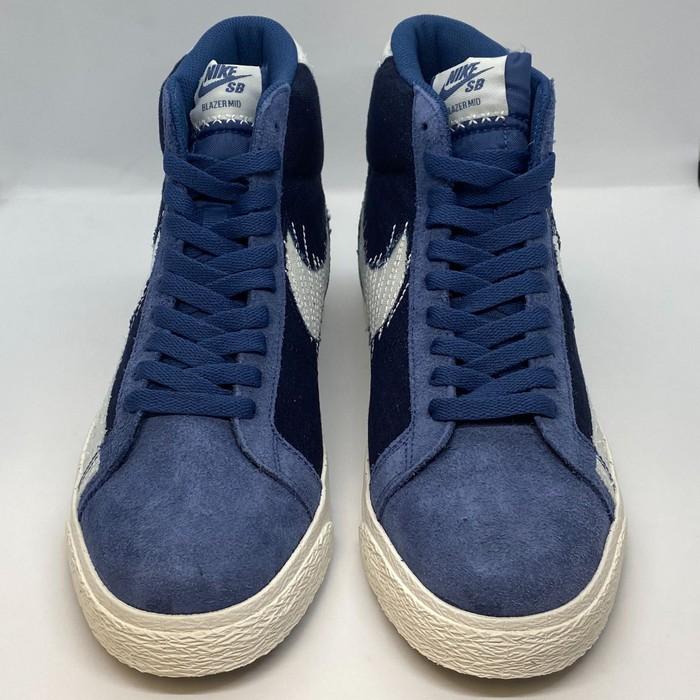 """Nike Size 8 - Nike SB Zoom Blazer Mid """"Sashiko"""" Mystic Navy"""