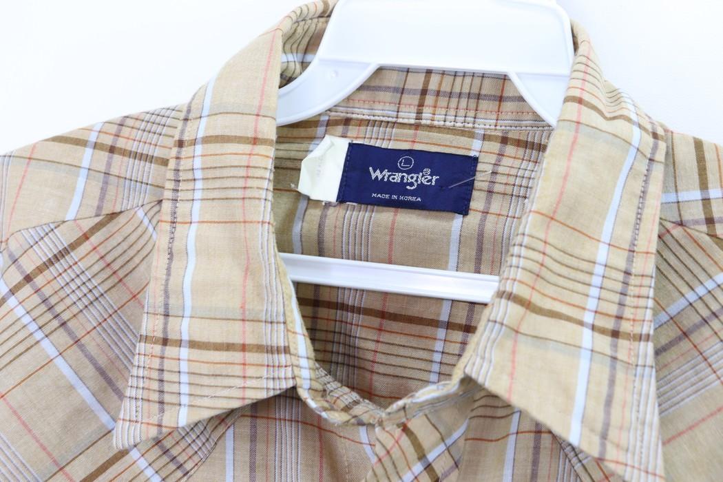 Vintage 70/'s Men/'s BrownPurple Plaid Cowboy Shirt with pearl snap buttons size Large
