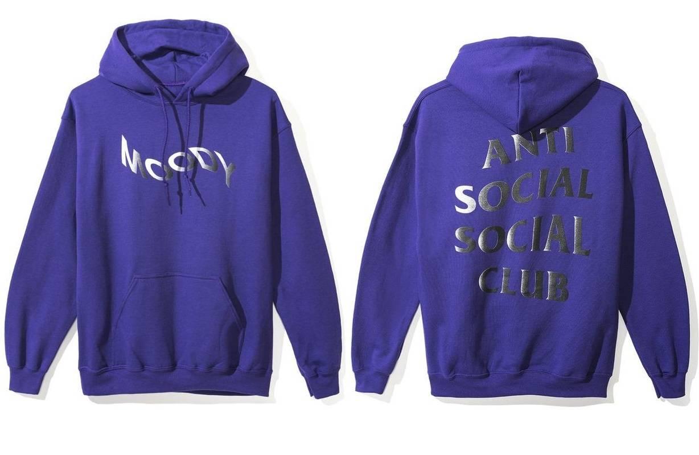 Auth Anti Social Social Club x BT21 Peekaboo Pink hoodie Logo  supreme BAPE KITH