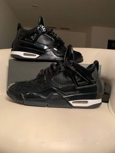 Air Jordan 4 Retro 11Lab4 Black Patent Leather