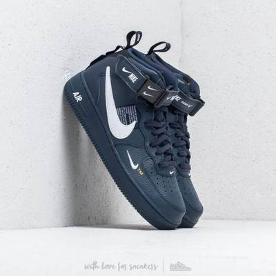 Men's Air Force 1 07 Mid LV8 Navy from Nike   Grailed
