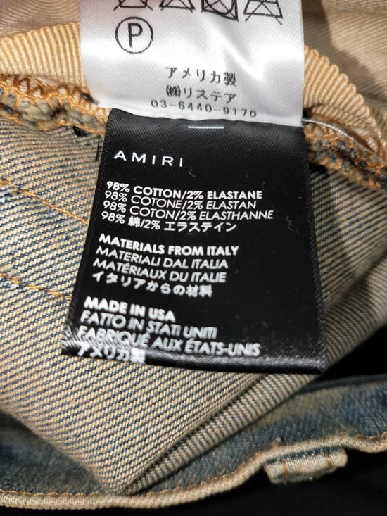 Amiri Dirty Indigo Glitter Track Jeans Size US 31 - 6