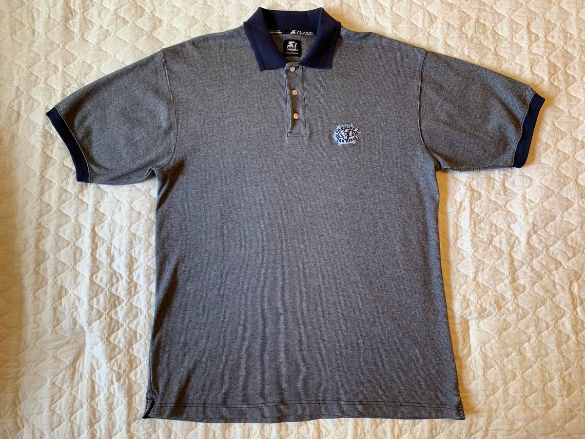 University of North Carolina Tar Heels Striped Polo Shirt