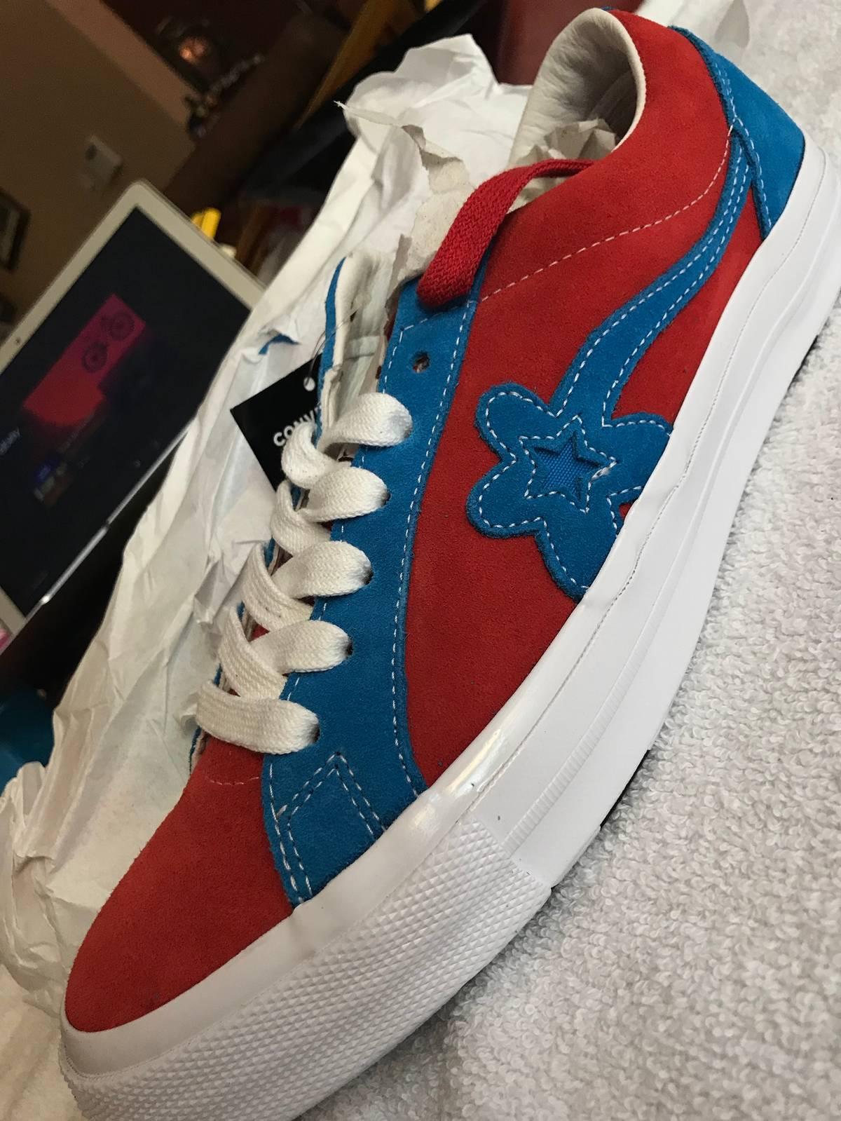 Converse Ds Golf Le Fleur Converse Molten Red Blue Grailed
