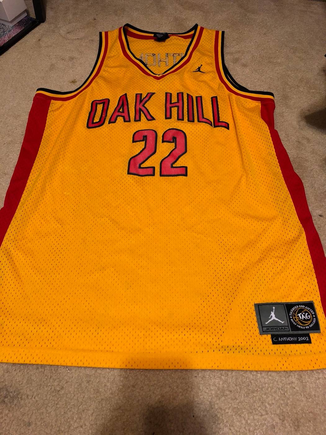 best sneakers 0c558 0f0eb Carmelo Anthony Oak Hill Jersey #22
