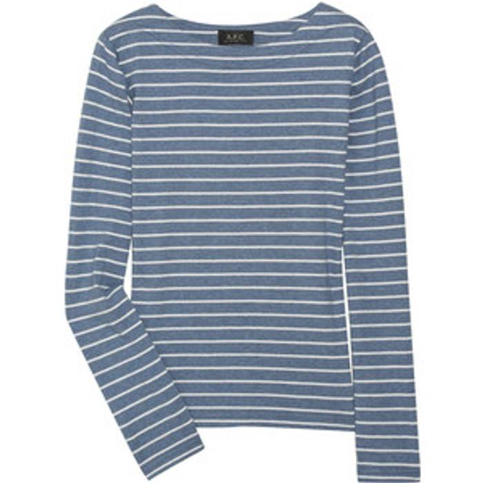 de camiseta manga Blue Stripes A larga p c Sailor w0XwYaz