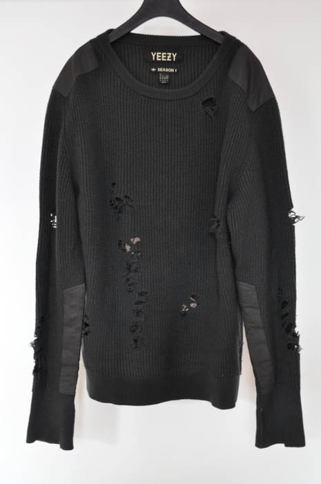Kanye Yeezy Wool M West Size 1 Sweater Adidas Destroyed Season wuXZOTPki